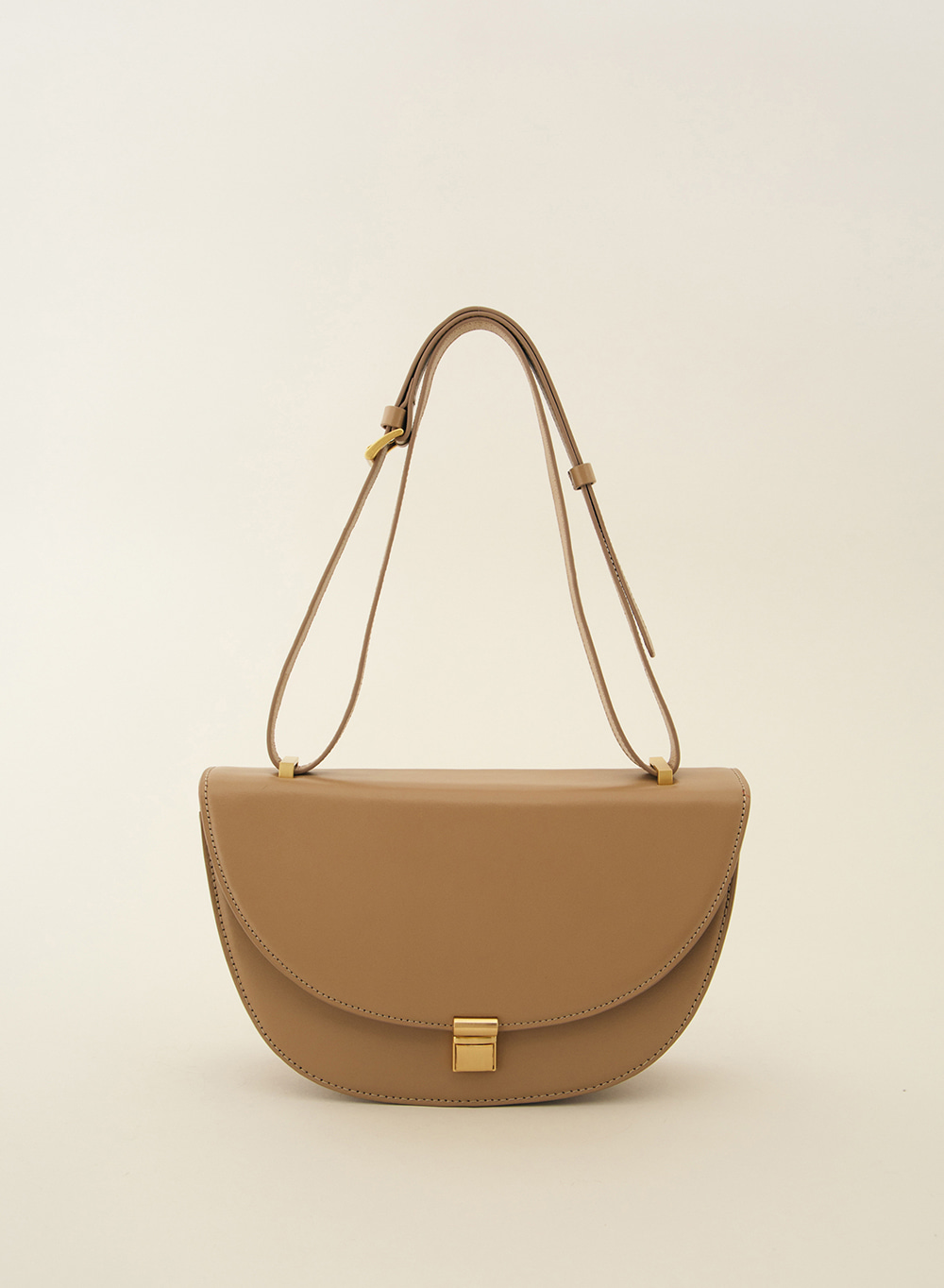 SS21 Classic Italian Leather Crossbody Beige
