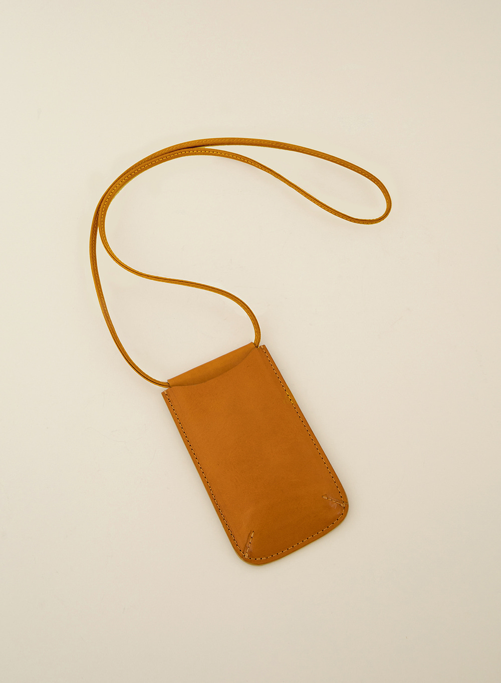 SS21 Mini Crossbody Wallet Tan